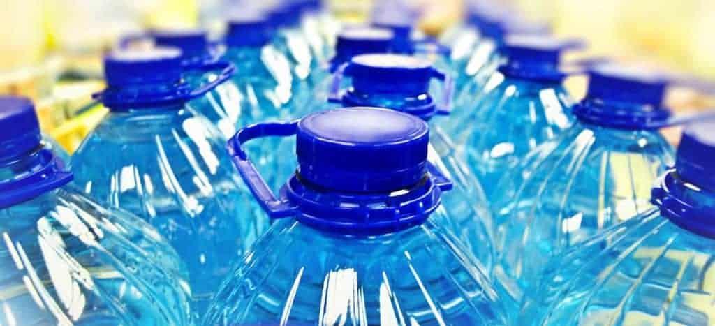 Multiple water bottles