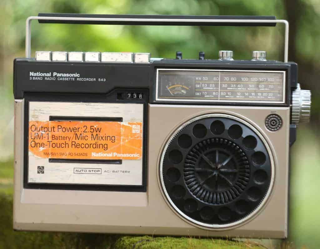 Old radio that can be used to listen to hurricane updates