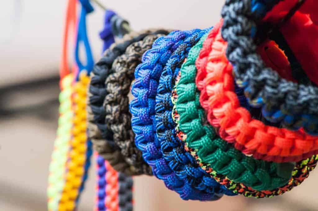 Colorful best paracord for survival in the form of bracelets