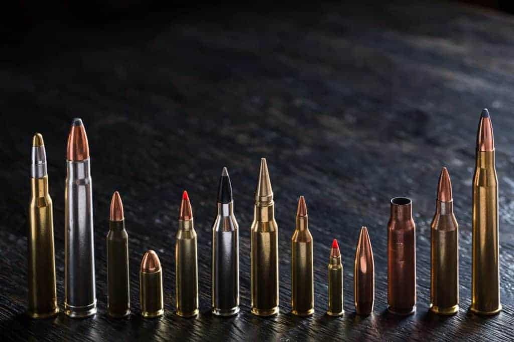 Different types of ammo calibers