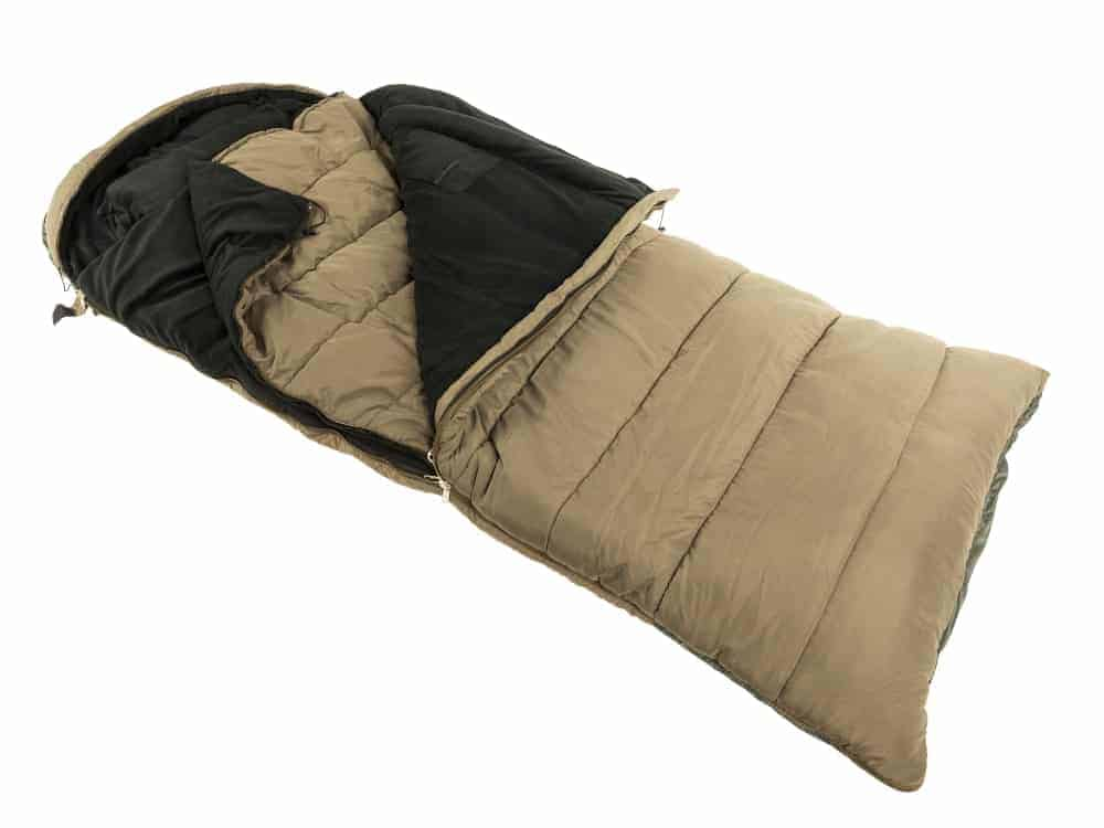 An open survival sleeping bag
