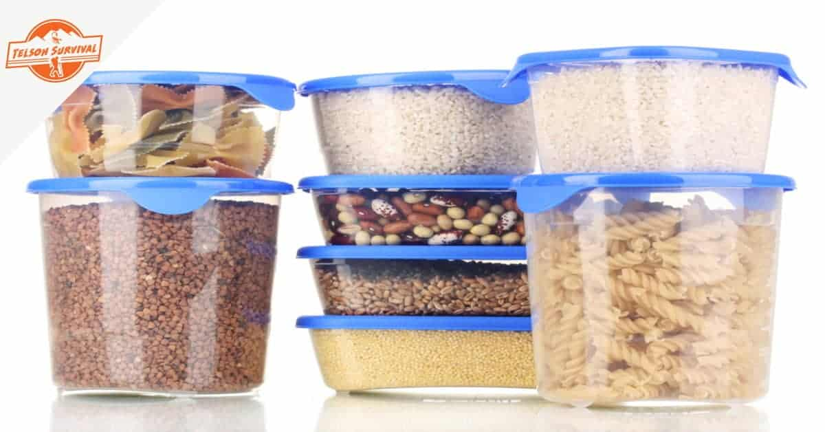 Best emergency food storage containers with survival food