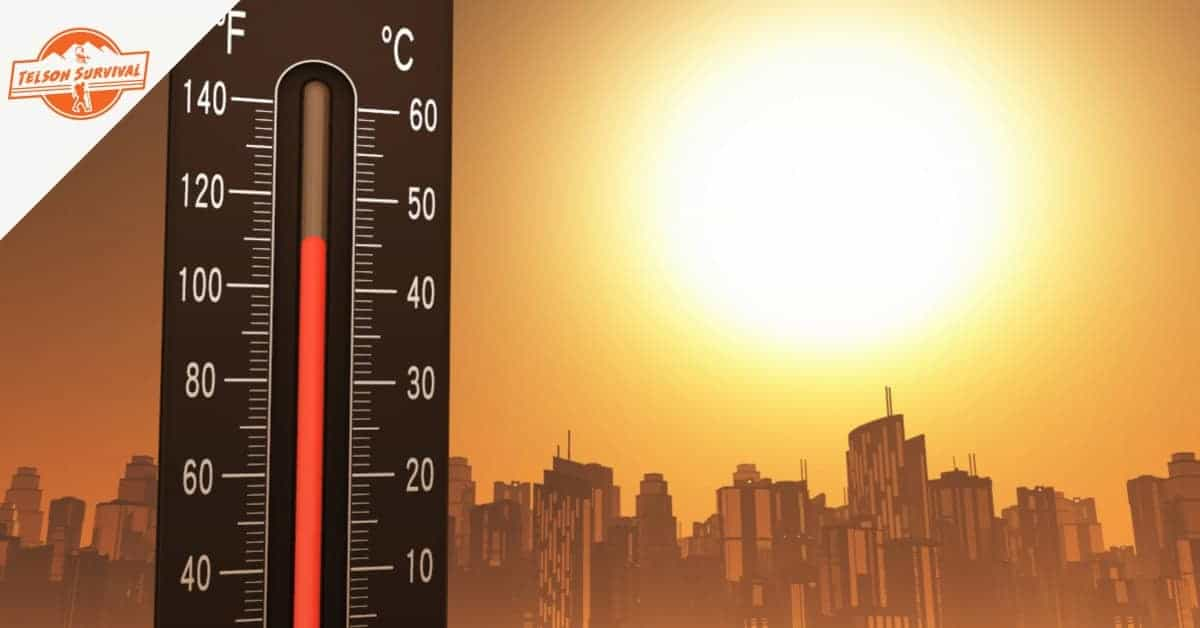 How to survive a heat wave as the thermometer shows high temperatures.