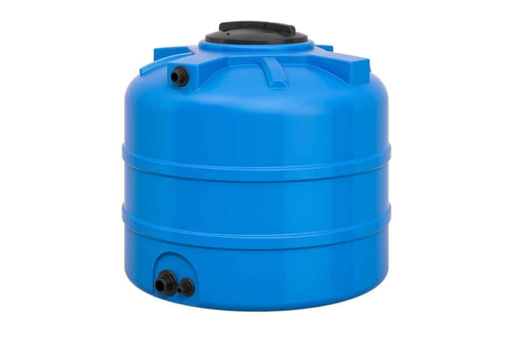 A large, long term, water storage container