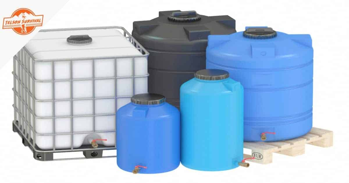 Multiple types of survival water storage containers