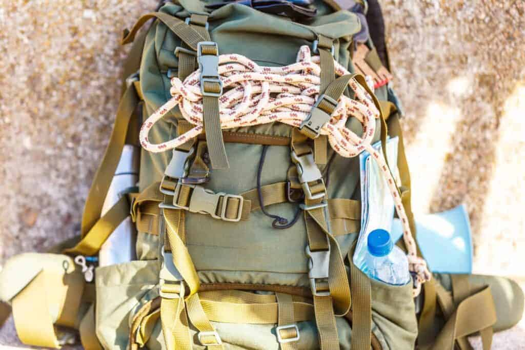 Premade bug out bag equiped with survival gear for emergencies and natural disasters.