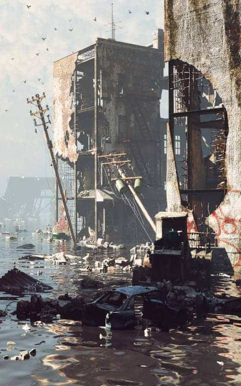 Unprepared city ravaged by a natural disaster