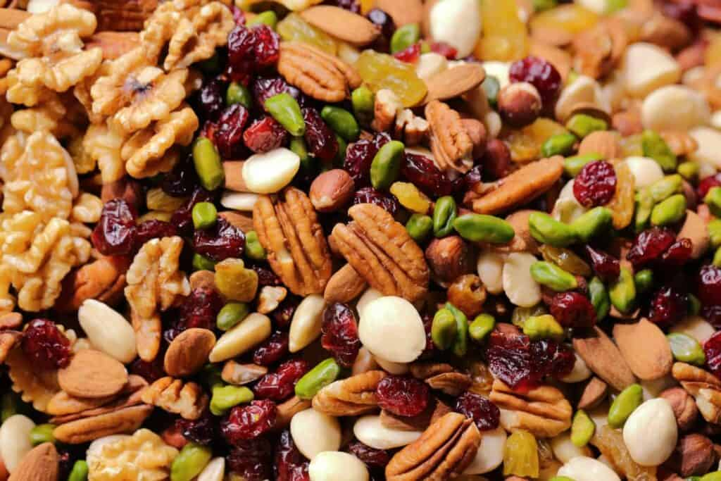 Mix of nuts that would be good survival food for living off-grid