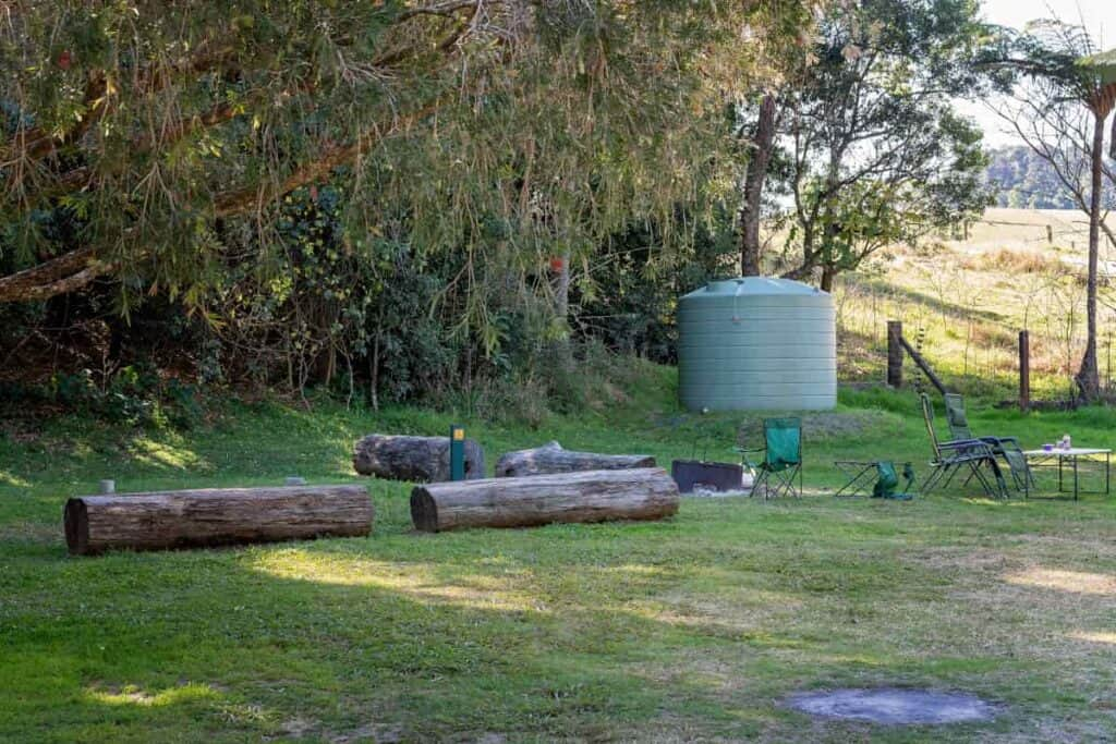 Location being prepared for off-grid living conditions