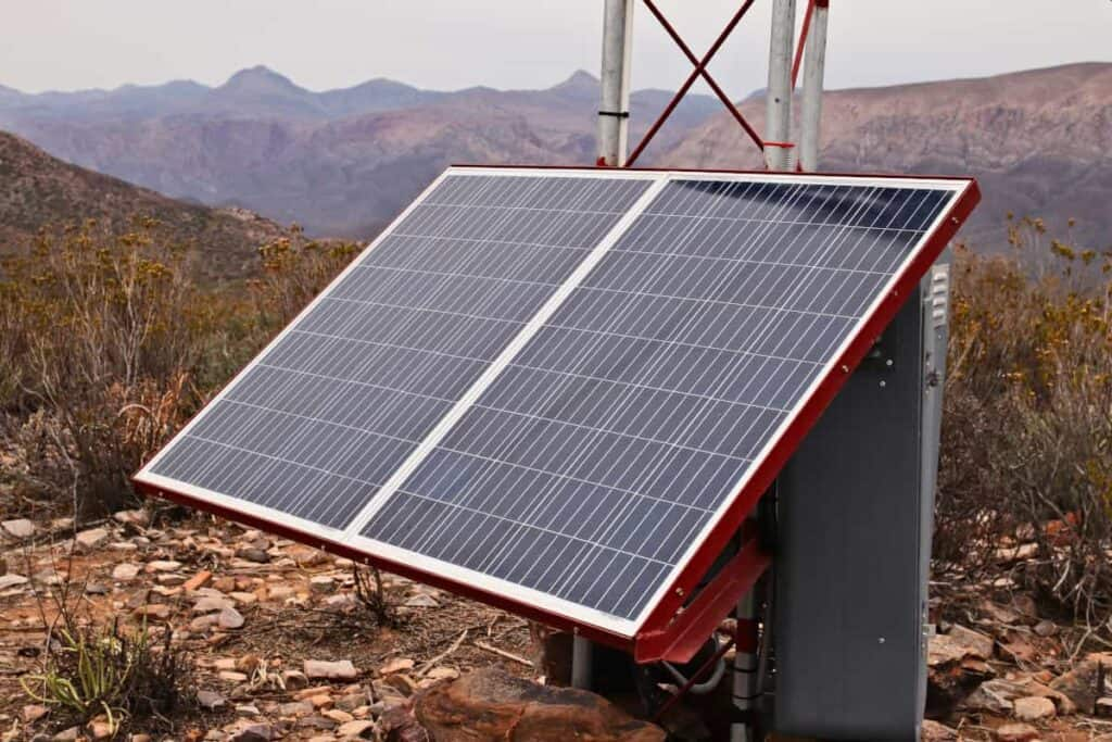 Small solar panel in an off grid environment