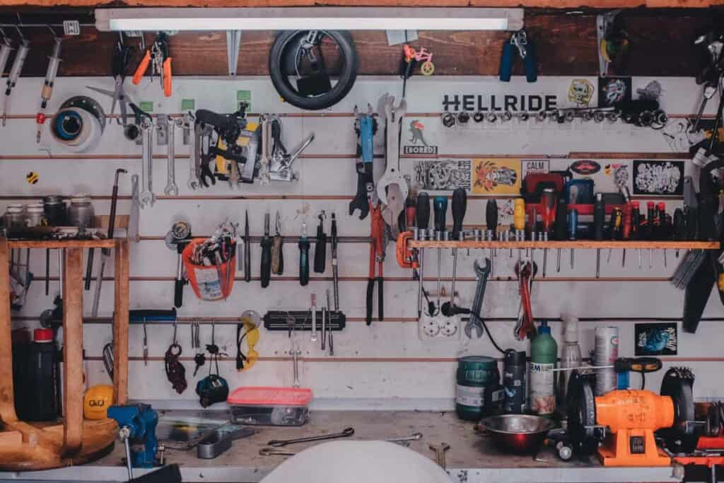 Shed full of off grid tools